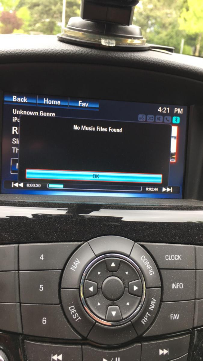 iPhone Indexing and 'No music files found' | Chevrolet Cruze Forums