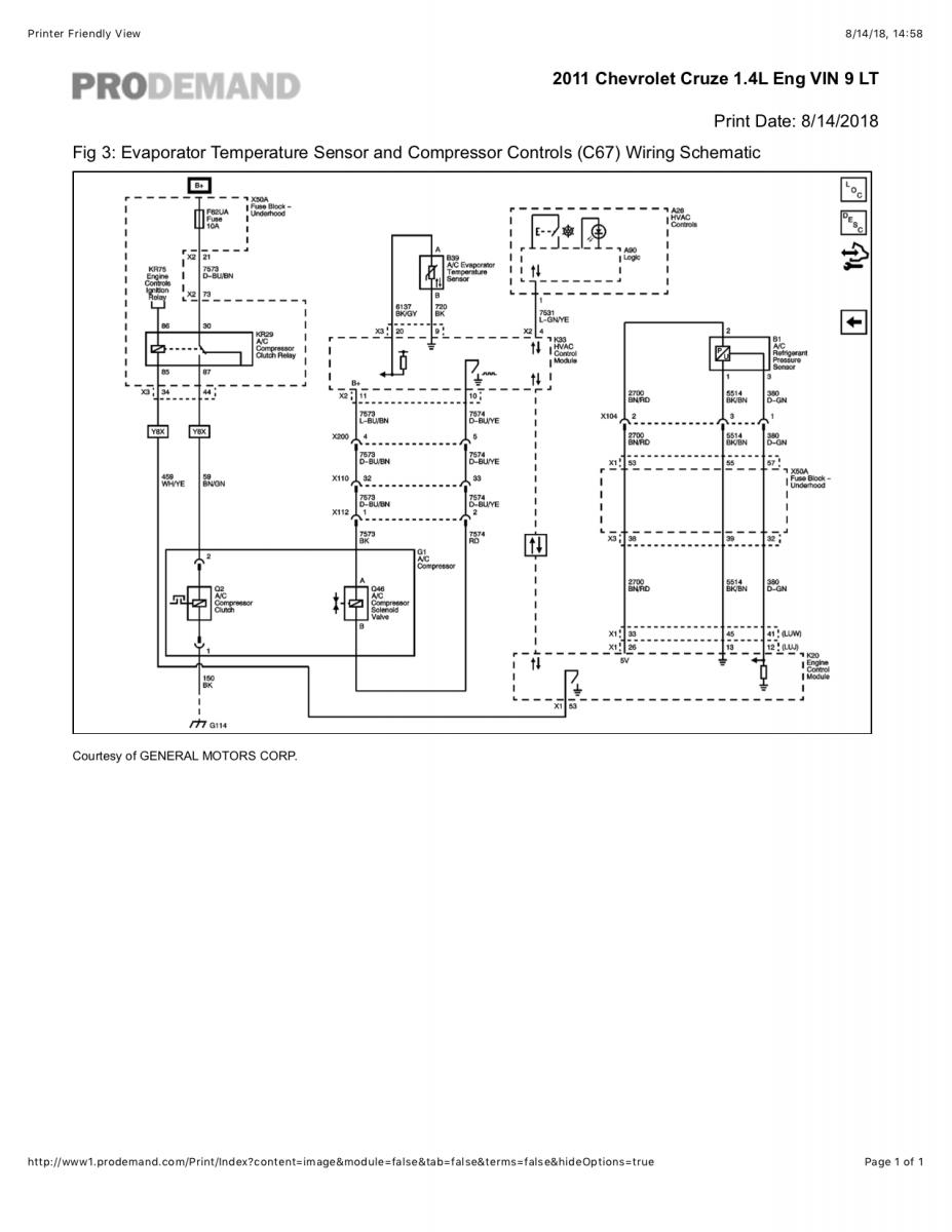 compressor cooling fan wiring diagram with relay ac clutch troubleshooting chevrolet cruze forums  ac clutch troubleshooting chevrolet