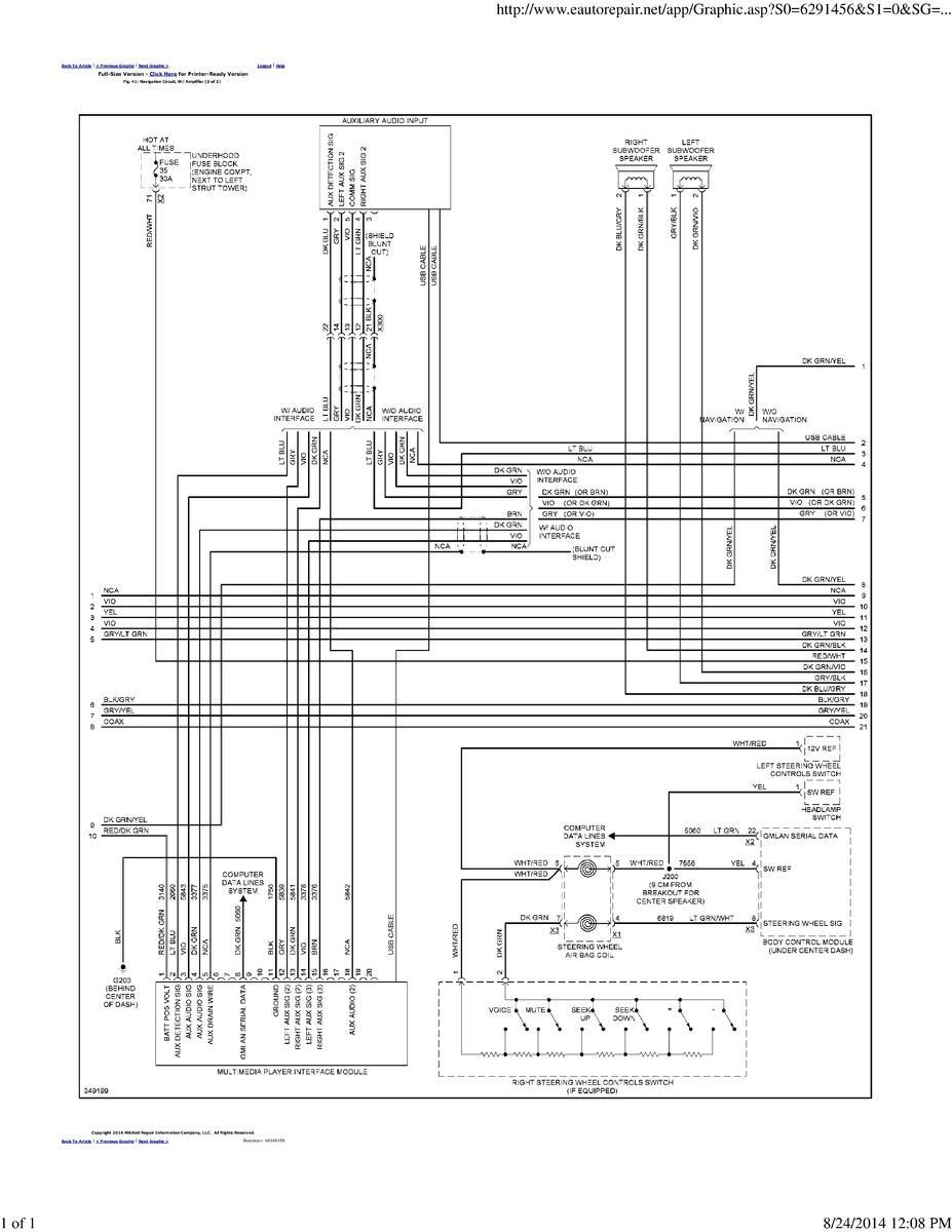 Factory Pioneer Amp Speaker Wire Diagram?? | Chevrolet Cruze ... on