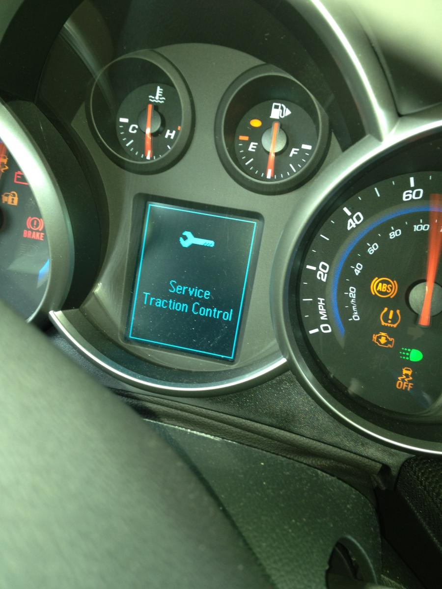 2012 Chevy Cruze Check Engine Light Service Traction Control