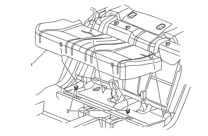 Anatomy Of The Rear Bottom Seat Clip