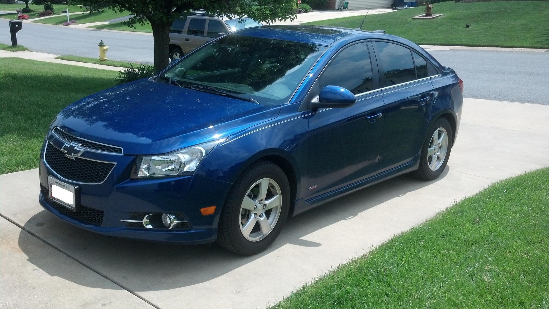2014 Chevrolet Cruze 1lt >> Window Tint on the blue topaz Cruze