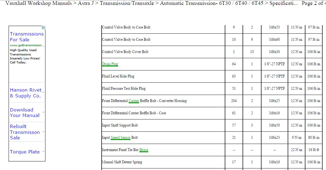 6t40 transmission filter location