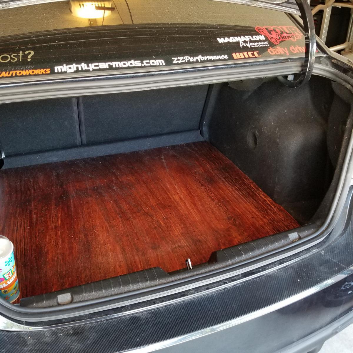 Custom Wood Floor For Your Trunk