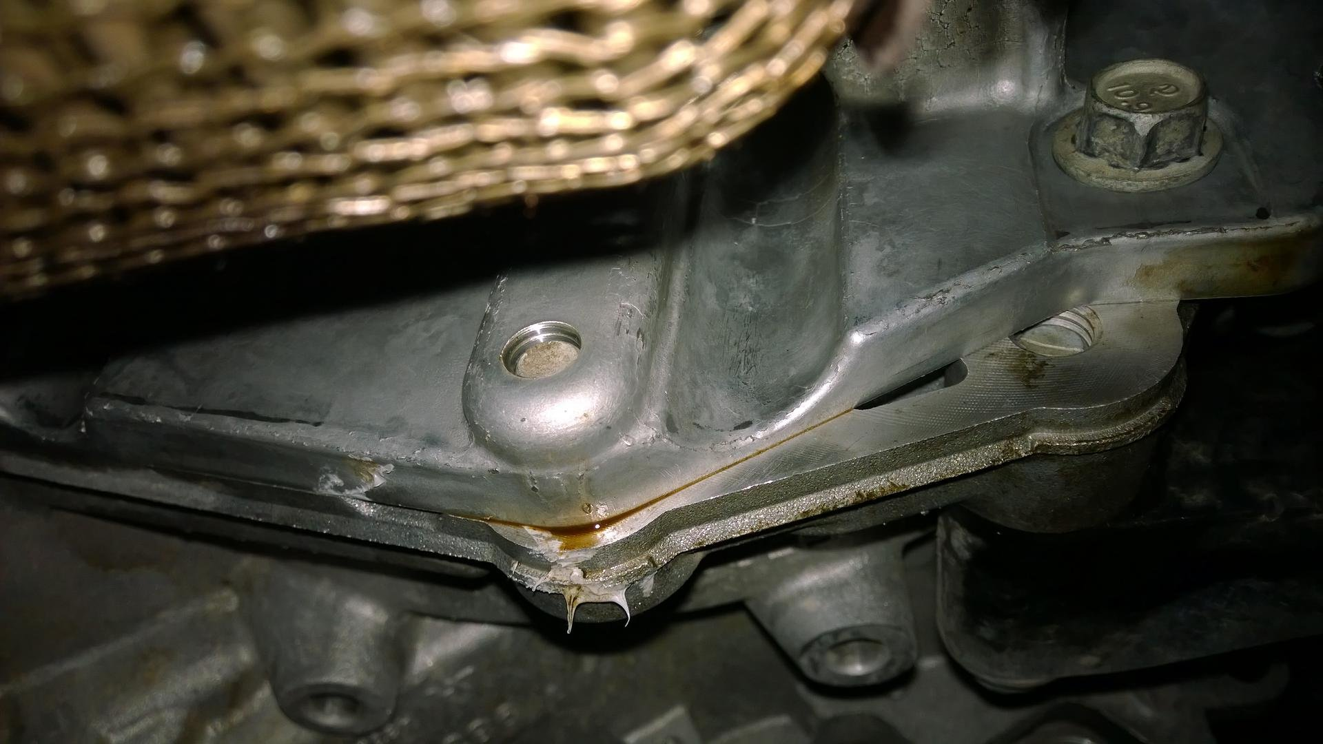new oil leak  rear main seal or oil pan ? | Chevrolet Cruze Forums