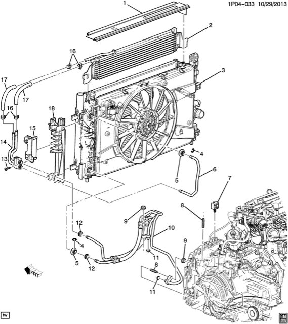 2012 Chevy Cruze Cooling System Diagram
