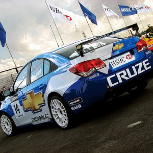 Chevy Cruze British Touring Car Championship race car