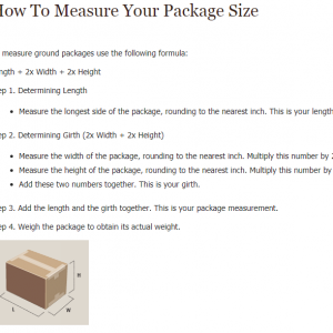 package size